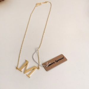 """Gold necklace """"M"""""""